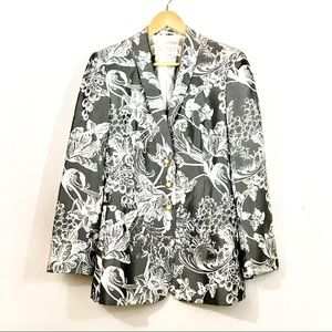Escada unique blazer grey/white floral print